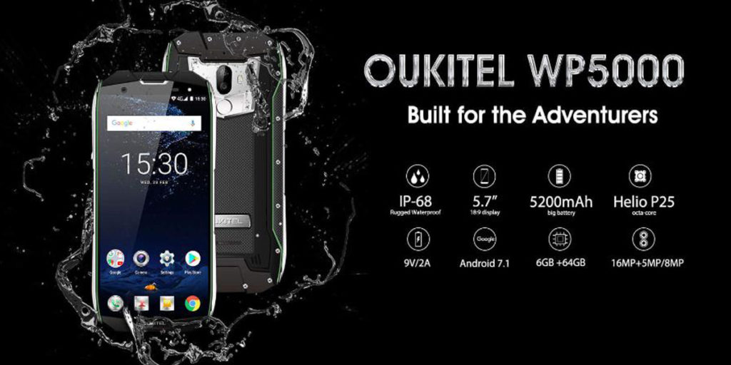 OUKITEL WP5000 rugged smartphone